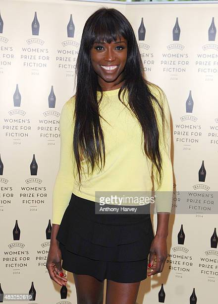 Lorraine Pascale attends the Baileys Women's Prize for Fiction Short List announcement at The Magazine at The Serpentine Gallery on April 7 2014 in...