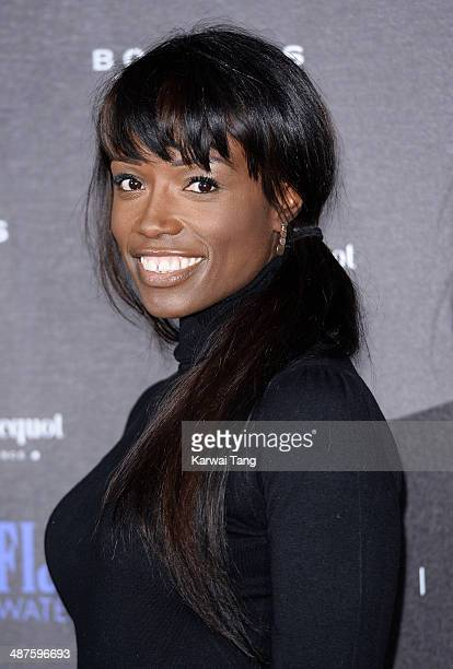 Lorraine Pascale attends the inaugural Battersea Power Station annual party held at Battersea Power station on April 30 2014 in London England