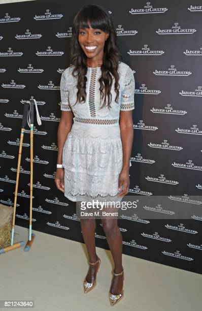 Lorraine Pascale attends the JaegerLeCoultre Gold Cup Polo Final at Cowdray Park on July 23 2017 in Midhurst England
