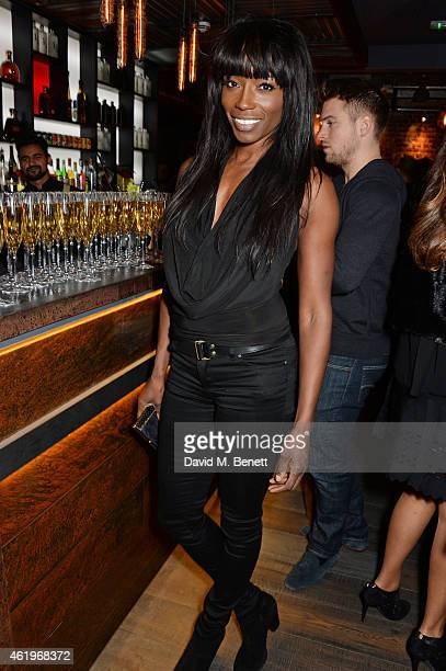 Lorraine Pascale attends the Jinjuu launch dinner Kingly Street at Jinjuu on January 22 2015 in London England