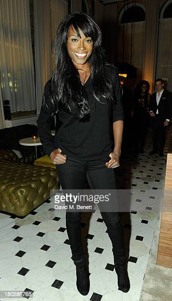 Lorraine Pascale attends The London Edition opening celebrating the September issue of W Magazine at The London Edition Hotel on September 14 2013 in...