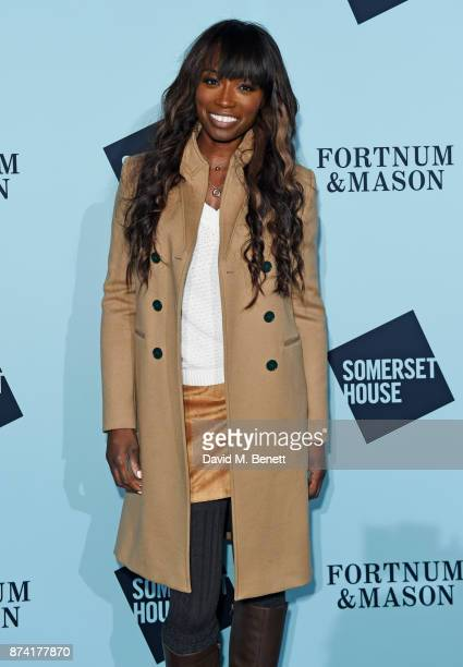 Lorraine Pascale attends the opening party of Skate at Somerset House with Fortnum Mason on November 14 2017 in London England London's favourite...