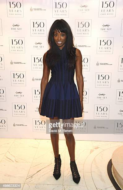 Lorraine Pascale attends the Royal Marines Boxing Bout at Cafe Royal in celebration of their 150th Anniversary on November 24 2015 in London England