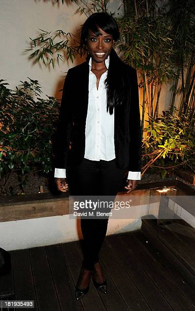 Lorraine Pascale attends the Sky Living rebrand dinner at the Greenhouse Restaurant on September 26 2013 in London England
