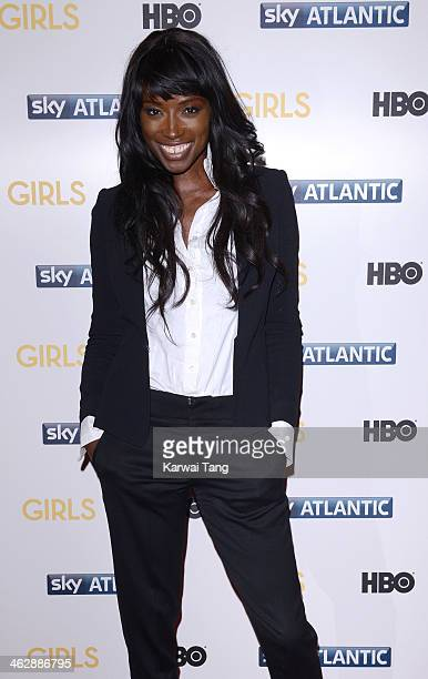 Lorraine Pascale attends the UK premiere of 'Girls Season 3' at Cineworld Haymarket on January 15 2014 in London England