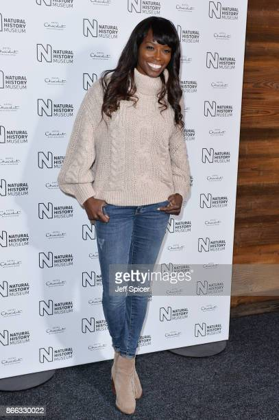 Lorraine Pascale during the launch of the Natural History Museum Ice Rink on October 25 2017 in London England