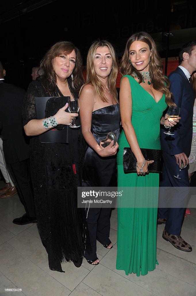 Lorraine Schwartz, Nina Garcia, and Sofia Vergara attend the 2013 CFDA Fashion Awards on June 3, 2013 in New York, United States.