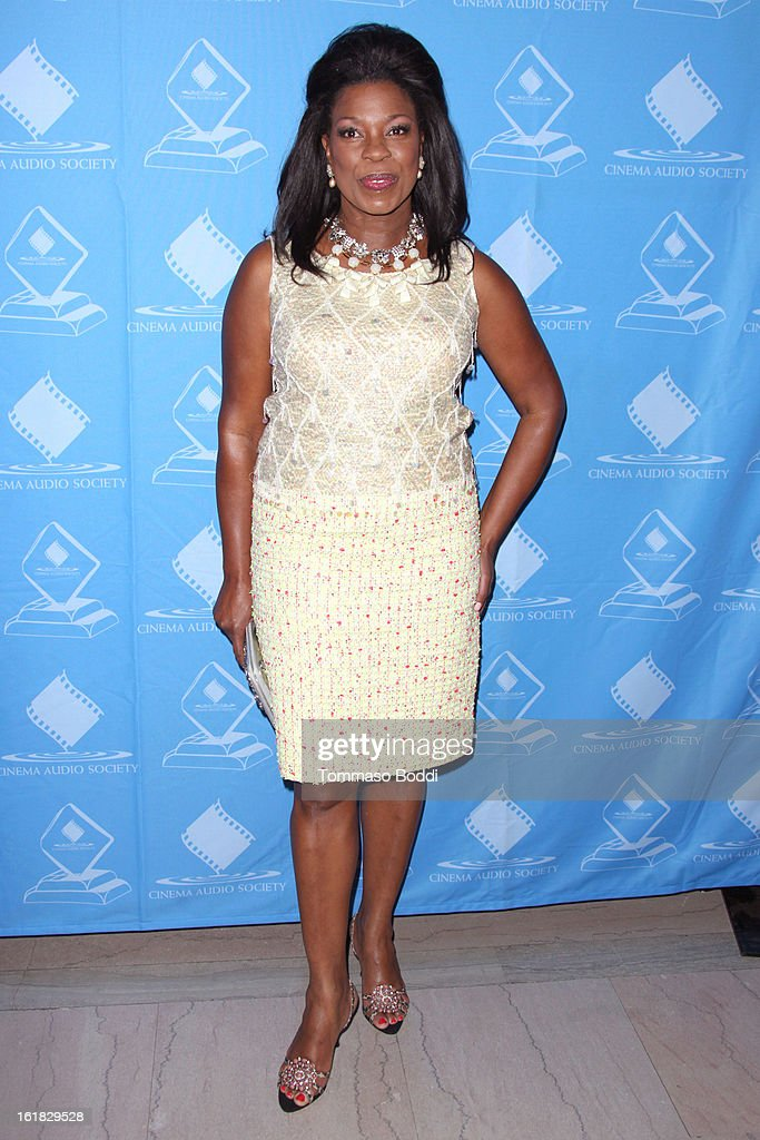 Lorraine Toussaint attends the 49th annual Cinema Audio Society Awards held at Millennium Biltmore Hotel on February 16, 2013 in Los Angeles, California.