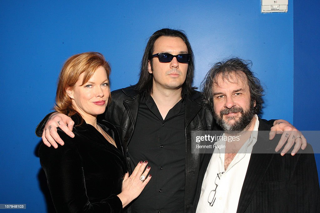 Lorri Davis, Damien Echols, and director <a gi-track='captionPersonalityLinkClicked' href=/galleries/search?phrase=Peter+Jackson+-+Filmmaker&family=editorial&specificpeople=203018 ng-click='$event.stopPropagation()'>Peter Jackson</a> attend the after party for the 'West Of Memphis' premiere at The French Institute on December 7, 2012 in New York City.