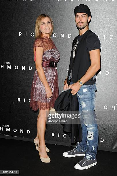Lory del Santo and Devin del Santo attend the John Richmond Spring/Summer 2013 fashion show as part of Milan Womenswear Fashion Week on September 19...