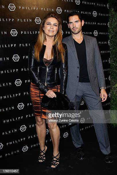 Lory Del Santo and guest attend the Philipp Plein Urban Jungle Spring/Summer 2012 fashion show as part Milan Womenswear Fashion Week on September 24...
