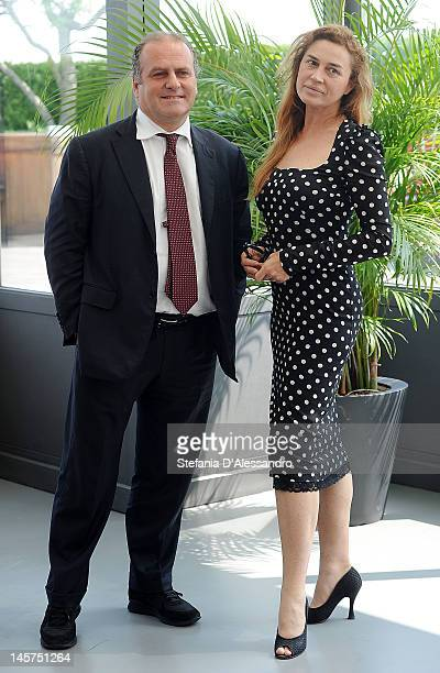 Lory Del Santo and Pascal Vicedomini attend 2012 Ischia Global Fest Photocall on June 5 2012 in Milan Italy