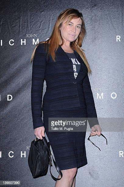 Lory del Santo attends the John Richmond Autumn/Winter 2012/2013 fashion show as part of Milan Womenswear Fashion Week on February 22 2012 in Milan...