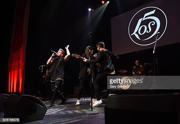 Los 5 performs at Z100 CocaCola All Access Lounge at Z100's Jingle Ball 2016 Presented by Capital One preshow at Hammerstein Ballroom on December 9...