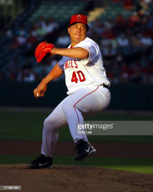 Los Angeles Angels of Anaheim pitcher Bartolo Colon pitches during 86 victory over the Texas Rangers at Angel Stadium in Anaheim Calif on Tuesday...