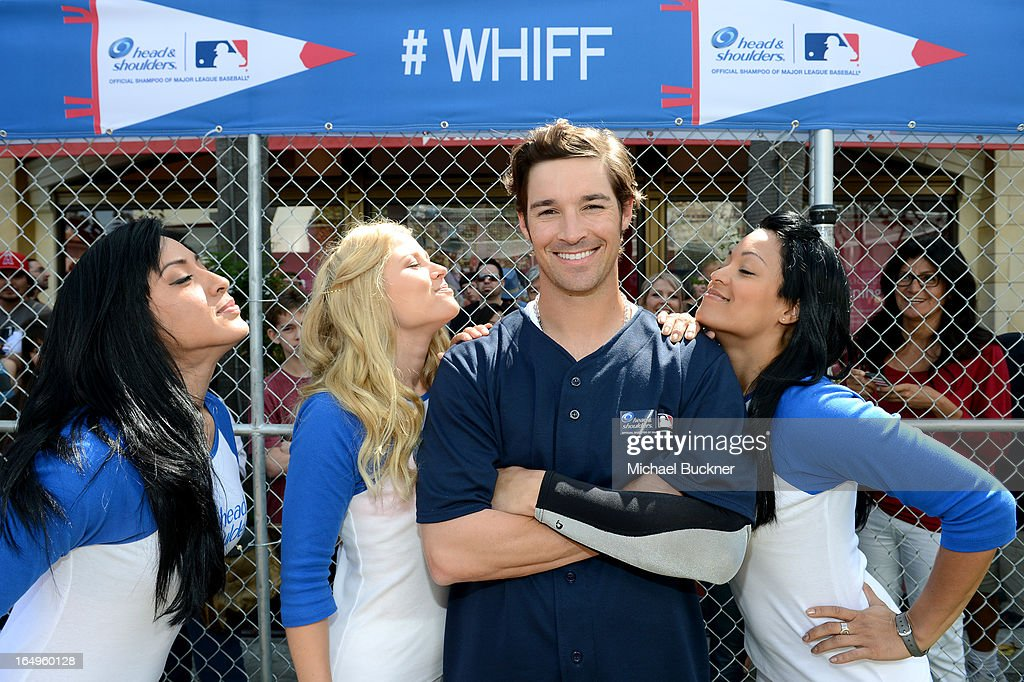 Los Angeles Angels of Anaheim pitcher C.J. Wilson launches Head and Shoulders first ever 'Whiff-A-Thon' event to launch the Season of the Whiff campaign. For every 'whiff' (strikeout) during the 2013 regular MLB season, Head & Shoulders will make a $1 donation to Reviving Baseball in Inner Cities, at The Grove on March 29, 2013 in Los Angeles, California.