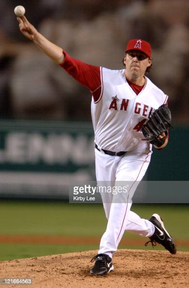 Los Angeles Angels of Anaheim starter John Lackey pitches during 97 victory over the Seattle Mariners at Angel Stadium in Anaheim Calif on Saturday...
