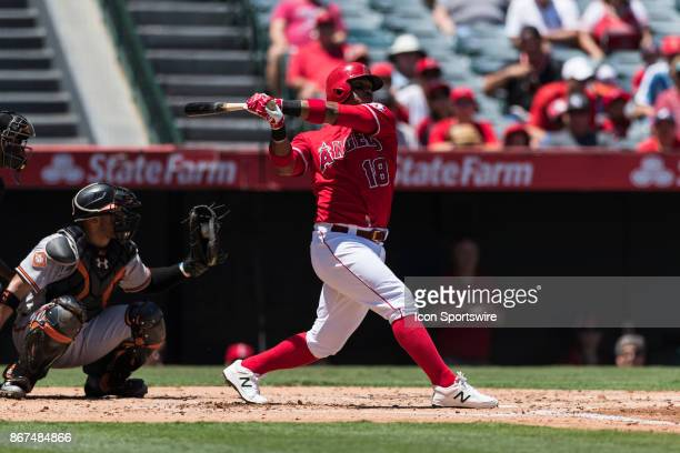Los Angeles Angels third baseman Luis Valbuena during the MLB regular season baseball game between the Baltimore Orioles and the Los Angeles Angles...