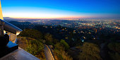 City of Los Angeles as seen from the Griffith Observatory at dusk, Los Angeles County, California, USA