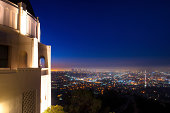 City of Los Angeles as seen from the Griffith Observatory at night, Los Angeles County, California, USA