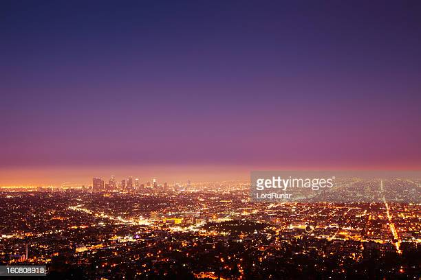 Los Angeles at nightfall