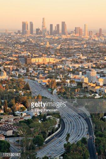 Los Angeles au coucher du soleil