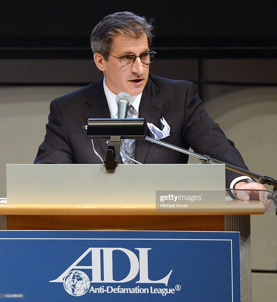 Los Angeles Business Journal Publisher Matt Toledo presents onstage at The Anti-Defamation League Deborah Awards at the Skirball Cultural Center on April 26, 2012 in Los Angeles, California.