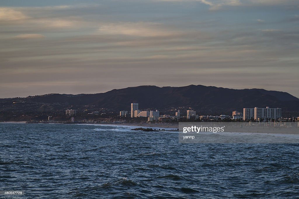 Los angeles by the ocean : Stock Photo