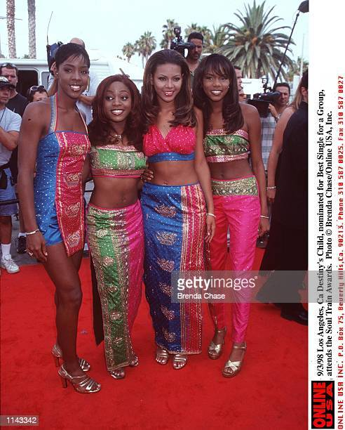 Los Angeles Ca Destiny's Child nominated for Best Group at the Soul Train awards