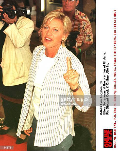 Los Angeles Ca Ellen Degeneras at the premier of GI Jane