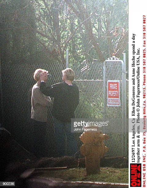 Los Angeles Ca Ellen DeGeneres and Anne Heche spend a day together arm arm