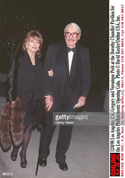 Los Angeles CA Gregory and Veronique Peck at the Dorothy Chandler Pavilion for the Los Angeles Philharmonic Opening Gala