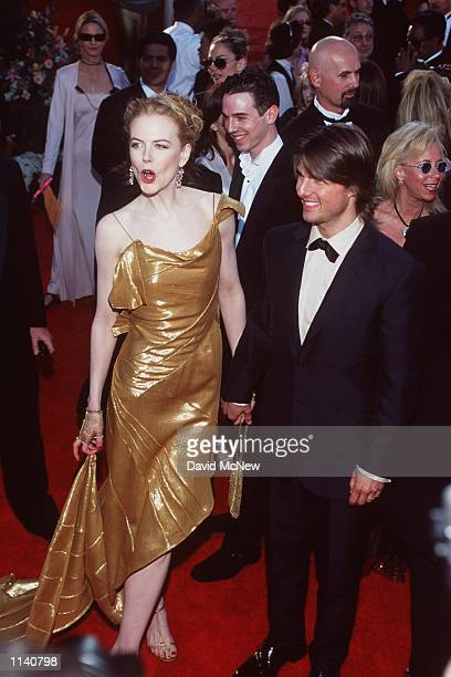 Los Angeles CA Nicole Kidman and Tom Cruise at the 72nd Annual Academy Awards Dave McNewOnline USA Inc