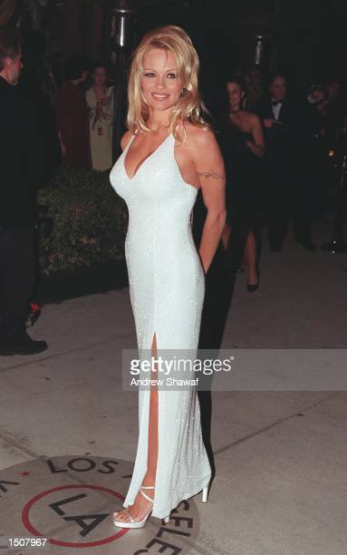 Los Angeles CA Pamela Anderson at the Vanity Fair Oscar Party at Mortons Restaurant in West Hollywood
