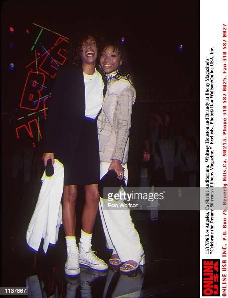 Los Angeles Ca Shrine Auditorium Whitney Houston and Brandy at Ebony Magazine's 'Celebrate the Dream 50 Years of Ebony Magazine'