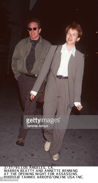 3/31/95 Los Angeles Ca Warren Beatty And Annette Bening At The 'Assassins' Premiere