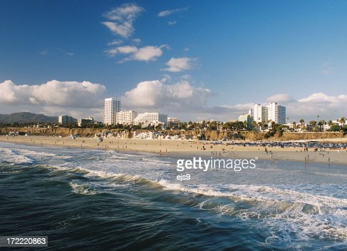 Los Angeles California Coastal beach ocean city scene