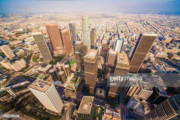 Los Angeles California downtown skyline skyscrapers cityscape panorama aerial view
