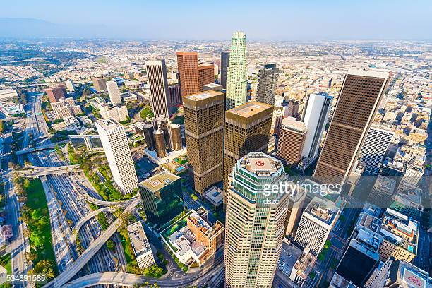 Los Angeles California Downtown Skyscrapers Cityscape Panorama Skyline Aerial