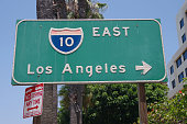 Los Angeles California Interstate 10 East sign