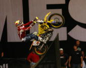 Los Angeles California Staples Center Friday August 4 2006 X Games 12 Moto Best Trick athlete Travis Pastrana breaks history by becoming the first...