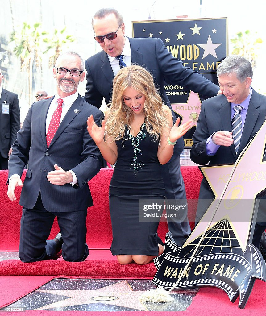 Los Angeles City Councilmember Mitch O'Farrell music executive Tommy Mottola actress/singer Thalia and president CEO of the Hollywood chamber of...
