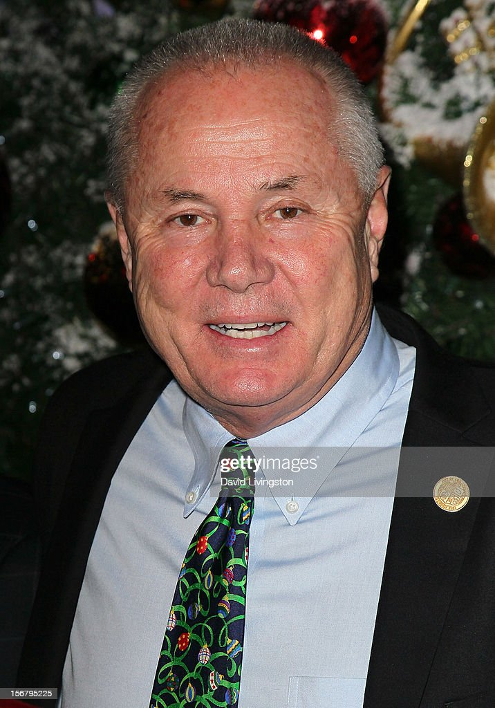 Los Angeles City Councilmember Tom LaBonge attends the Universal CityWalk Tree Lighting - Light Show Spectacular at 5 Towers Outdoor Concert Arena on November 20, 2012 in Universal City, California.