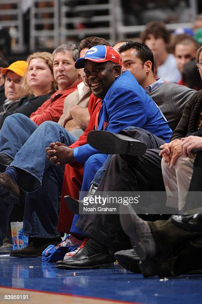 Los Angeles Clippers fan 'Clipper Darrell' watches the game between the Orlando Magic and the Los Angeles Clippers at Staples Center on December 8...