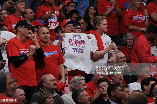 Los Angeles Clippers fans cheer during Game Three of the Western Conference Semifinals against the Oklahoma City Thunder during the 2014 NBA Playoffs...