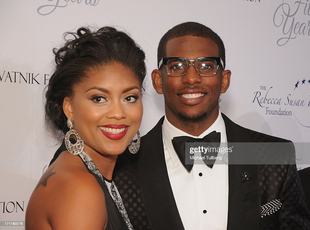 Los Angeles Clippers guard <a gi-track='captionPersonalityLinkClicked' href=/galleries/search?phrase=Chris+Paul&family=editorial&specificpeople=212762 ng-click='$event.stopPropagation()'>Chris Paul</a> and wife Jada Paul attend the LA's Best 25th Anniversary Gala at The Beverly Hilton Hotel on June 22, 2013 in Beverly Hills, California.
