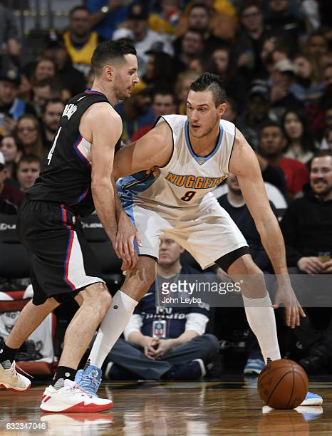 Los Angeles Clippers guard JJ Redick guards Denver Nuggets forward Danilo Gallinari during the third quarter January 21 2016 at Pepsi Center