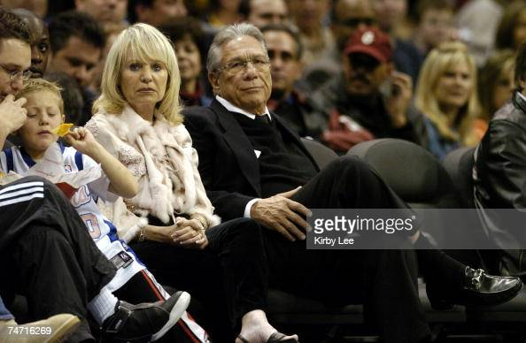 Los Angeles Clippers owner Donald Sterling aka Donald T Sterling and wife watch during 10192 victory over the Dallas Mavericks at the Staples Center...