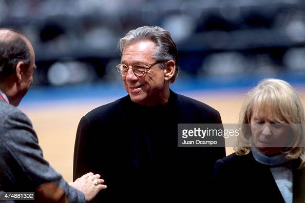 Los Angeles Clippers owner Donald Sterling before a game in 2000 at Great Western Forum in Los Angeles California NOTE TO USER User expressly...