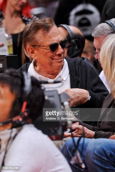 Los Angeles Clippers Owner Donald Sterling looks on as his team plays the San Antonio Spurs at Staples Center on November 7 2012 in Los Angeles...